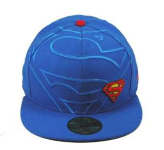 NEW ERA 59FIFTY SUPERMAN NE FRONTAL ROYAL RED CUSTOM FITTED HAT CAP