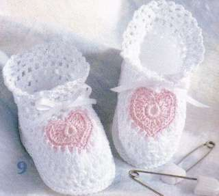 Thread Crochet Patterns : BABY BOOTIES THREAD CROCHET PATTERNS PATTERN MARY JANES By The Dozen