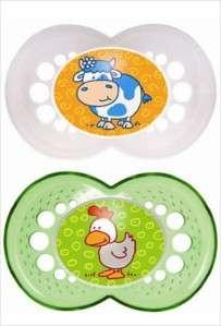 NEW MAM Baby Pacifiers BOY GIRL 6 M+ Animals 3 Styles