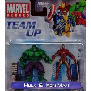 Marvel Heroes Team Up Hulk and Iron Man Toys & Games