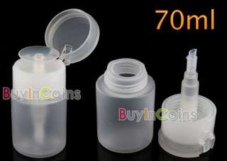 70ML Plastic Nail Art Pump Dispenser Spray Bottle New