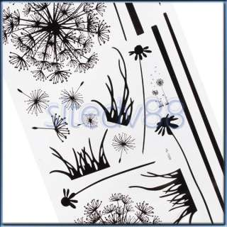 Dandelion Nature Mural Wall Decal Removable Window Sticker Decoration