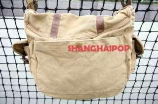 17 Canvas Messenger Shoulder Bag Travel Retro School