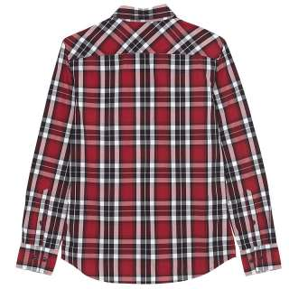 New mens casual fashion shirt American Shirt winter coat Red #0163418