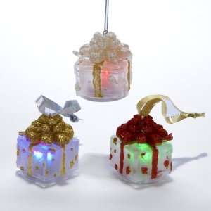 Club Pack of 12 Lighted LED Color Changing Christmas Present