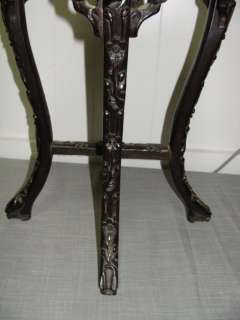 Antique Chinese Carved Rosewood Plant Stand Table