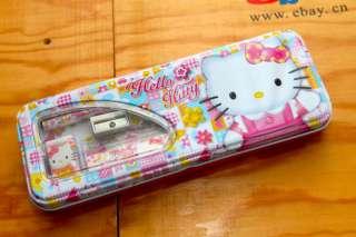 Sanrio HELLO KITTY 2 Layers PENCIL BOX CASE 6 IN 1 NEW