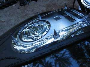 HONDA VTX GAS TANK CHROME SPIKES speedo spike 1300 1800