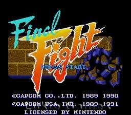 FINAL FIGHT   SNES Super Nintendo Game 013388130016