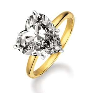 Certified 18k Yellow Gold Heart Shape Diamond Solitaire Ring (0.79