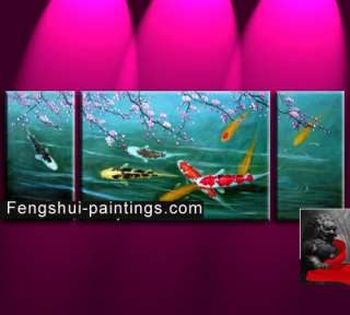 Chinese Feng Shui Painting, Chinese Koi Fish Painting