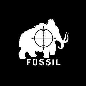 Woolly Mammoth Fossil Hunter 5 Year White Vinyl Decal Window Vehicle