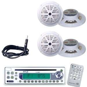Pyle Marine Radio Receiver, Speaker and Cable Package   PLCD9MR AM/FM