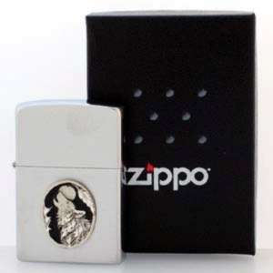ZIPPO Lighter with a Pewter WOLF Emblem High Quality