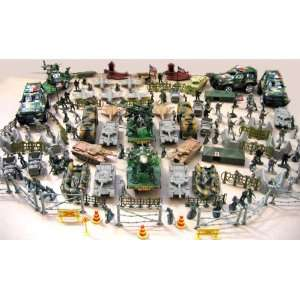 Battle Fleet Army Men Soldiers Tanks Jets & More: Toys & Games